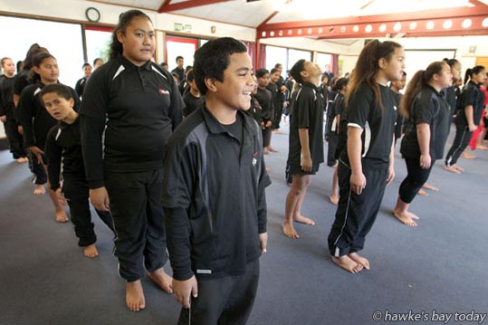 Front: William Folau - welcome for Jacinda Ardern, Labour MP and Anna Lorck, Labour candidate, Tukituki, at Kimi Ora Community School, Flaxmere, Hastings. photograph