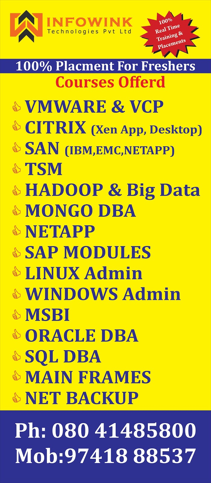 infowink technologies pvt  infowink technologies is best trainings vmware citrix windows hadoop big data informatica netapp netbackup emc san sforce crm software testing sap hr