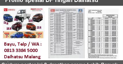 Harga Mobil Sigra Malang 2020 Dealer Daihatsu Promo Kredit Dp Murah