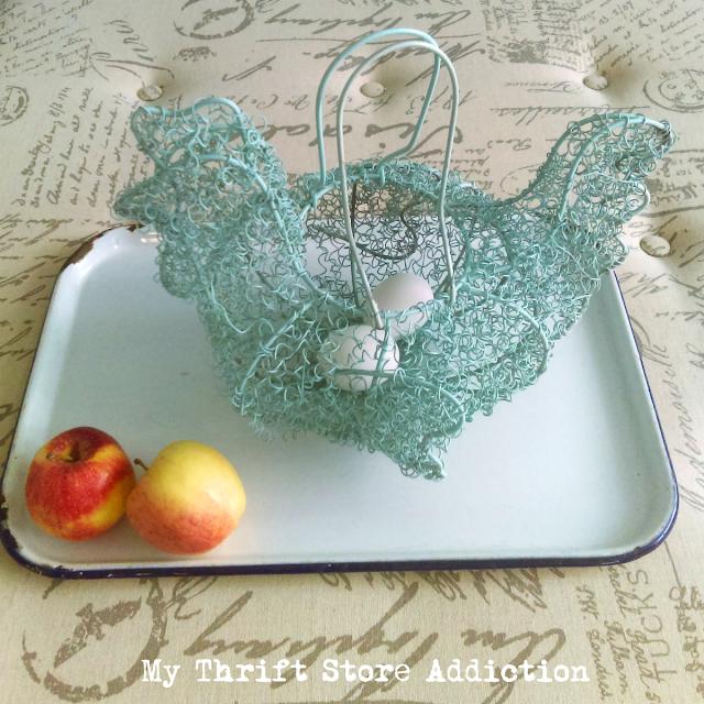 thrifted vintage egg baskets