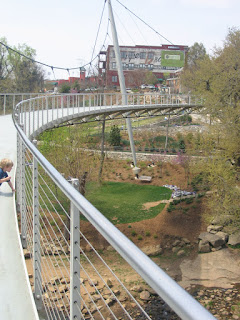 Liberty Bridge in Falls Park, Greenville County SC