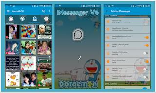 BBM MOD iMessenger V6 Doraemon Themes Based 3.0.0.18 Full Features