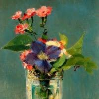 'Clavells i clematis en un gerro de cristall (Édouard Manet)'