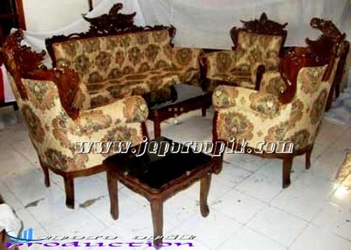 Gambar Kursi Sofa Tamu Mewah Furniture Jepara Gambar