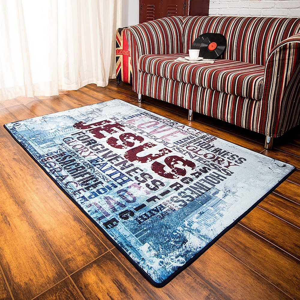 area rugs that can bring an inspirational message into a room