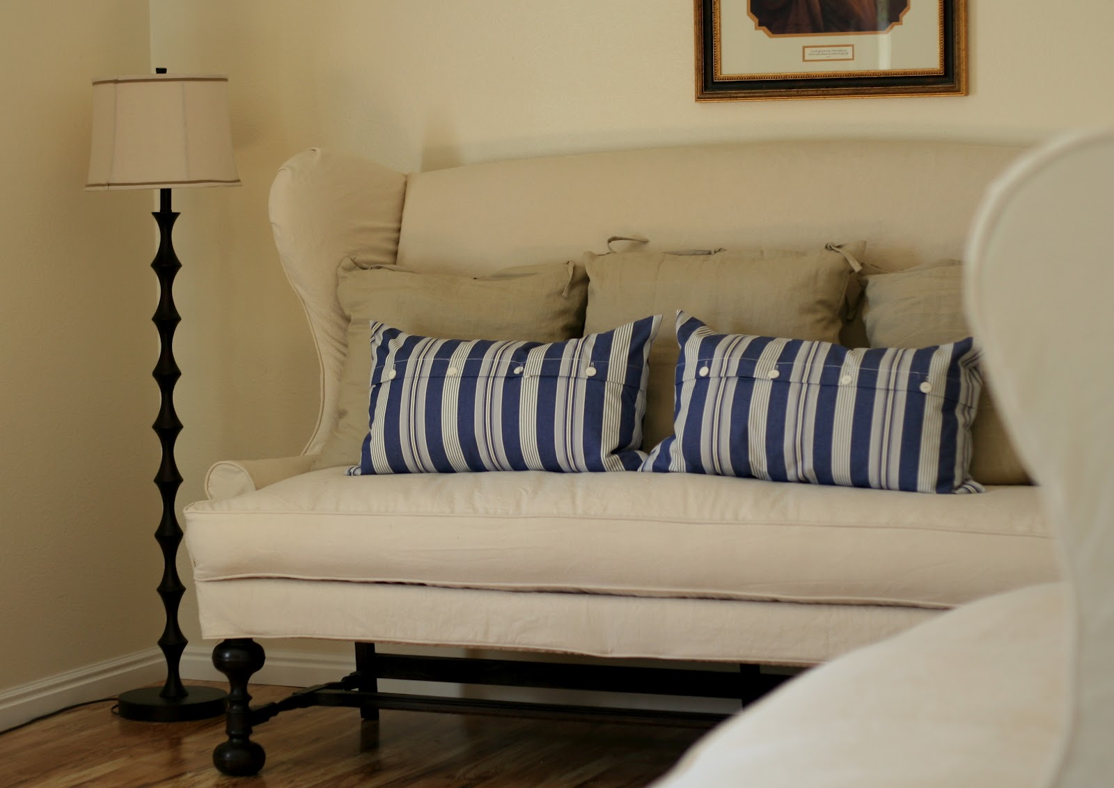 Extra Large Sofa Cushion Covers Ikea Extorp Wingback Slipcovers Bibbidi Bobbidi Beautiful How To