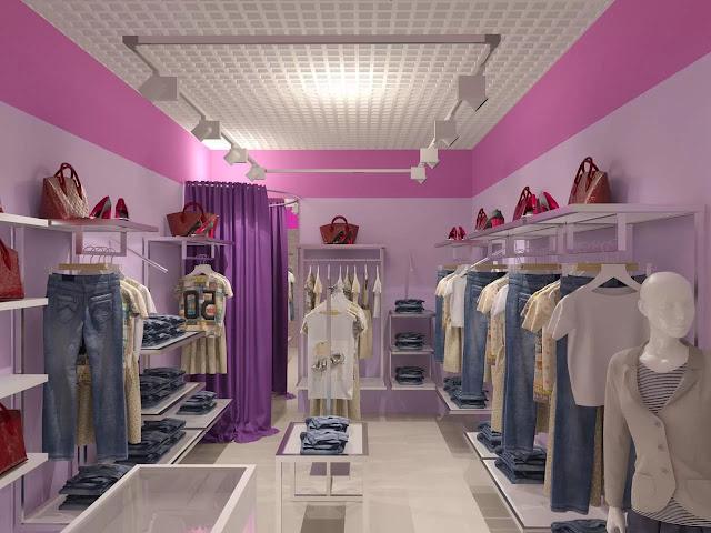 Thiết kế shop thời trang nhỏ đẹp - Mẫu số 4