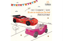 Participate to win a unique Habios Car bed's for your kid contest