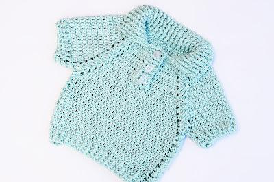 2 - Crochet IMAGEN Jersey de niño y niña a crochet muy facil y rapido