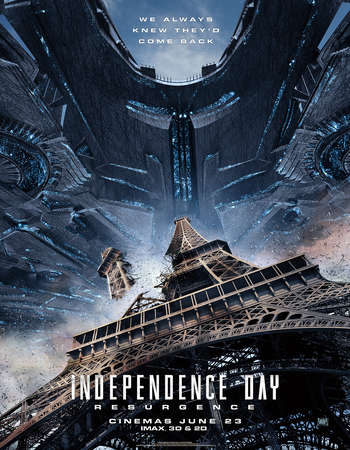 Poster Of Independence Day Resurgence 2016 Dual Audio 350MB HDRip 480p Free Download Watch Online downloadhub.net