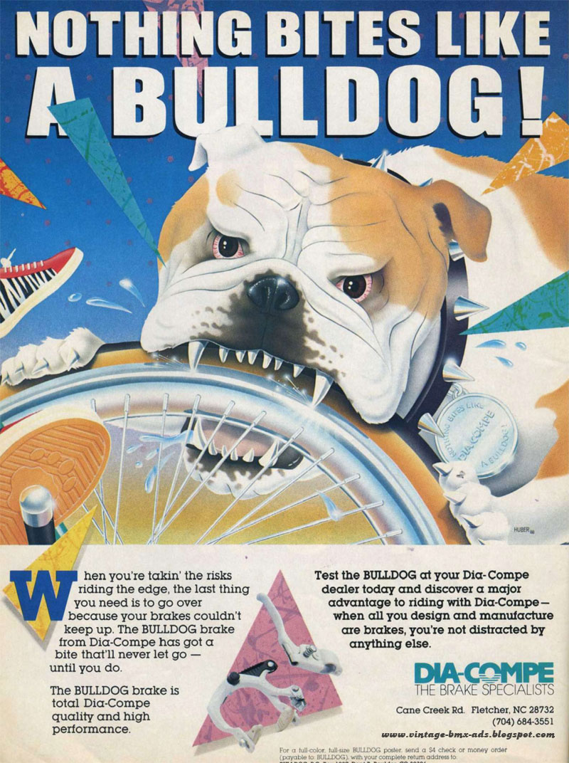 vintage bmx ads: nothing bites like a bulldog!
