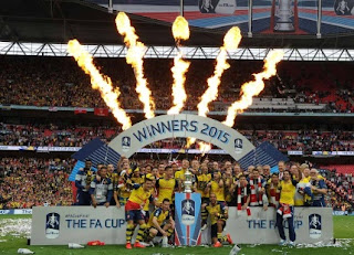 Arsenal Celebrate With FA Cup Trophy