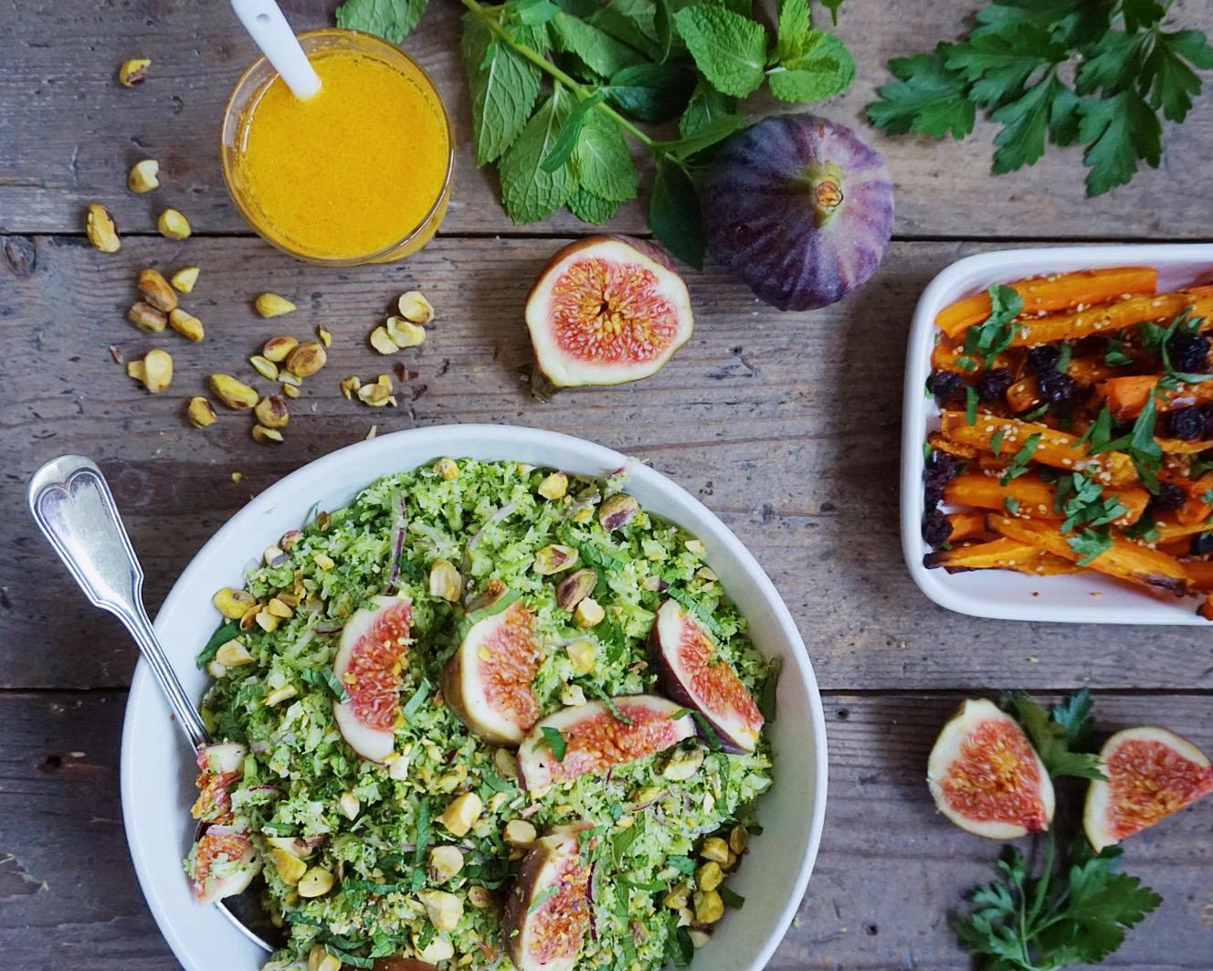 salat med broccoli og gulerødder