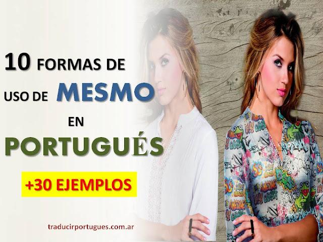 mesmo, locuções, adverbio, tradutora, espanhol, português