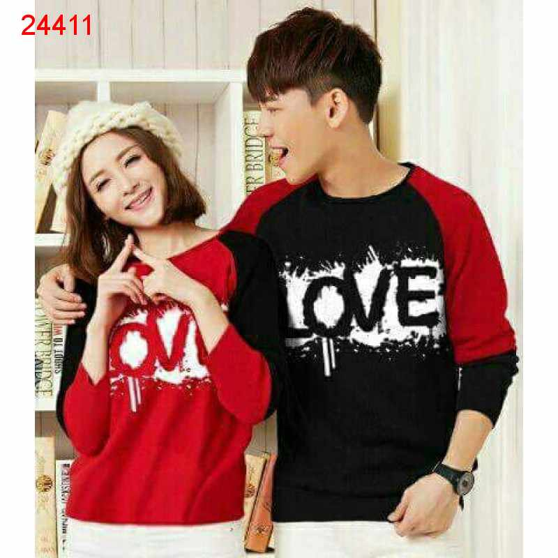 Jual Sweater Couple Sweater RB Love - 24411
