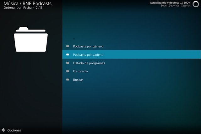 Addon RNE PODCASTS Kodi