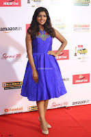 Eesha in Cute Blue Sleevelss Short Frock at Mirchi Music Awards South 2017 ~  Exclusive Celebrities Galleries 005.JPG