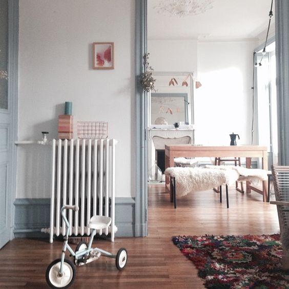 moulure bleu pastel tendance décoration