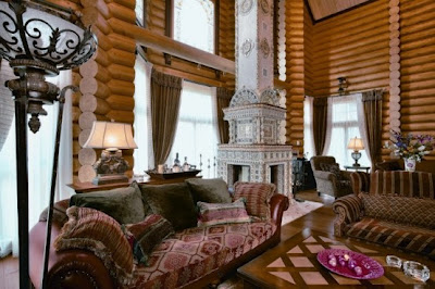 Casa de lujo de dise o cl sico ideas para decorar for Decoracion de casas antiguas con techos altos
