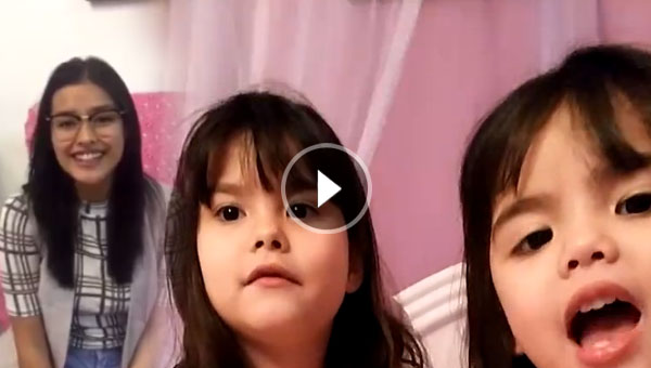 Liza Soberano sends Kramer sisters a video greeting