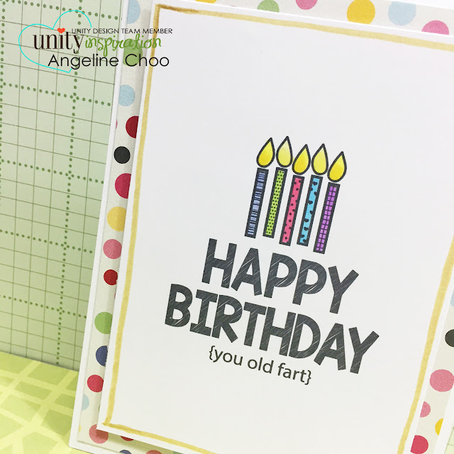 ScrappyScrappy: Happy birthday {you old fart} #scrappyscrappy #unitystampco #card