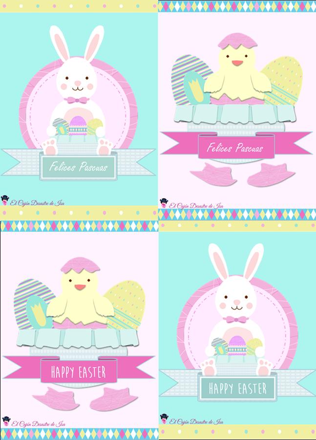 foto enlace para descargar gratis tarjetas de felicitación de Pascua para imprimir