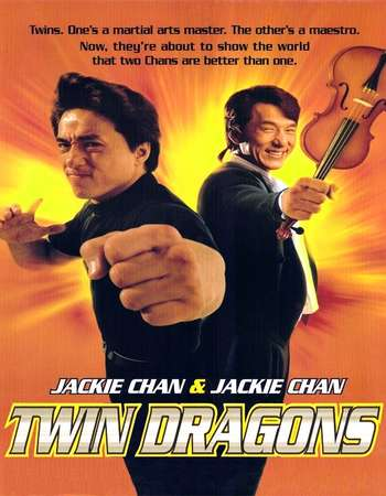 Poster Of Twin Dragons 1992 Hindi Dual Audio  300MB UNCUT  720p  HEVC Free Download Watch Online world4ufree.org