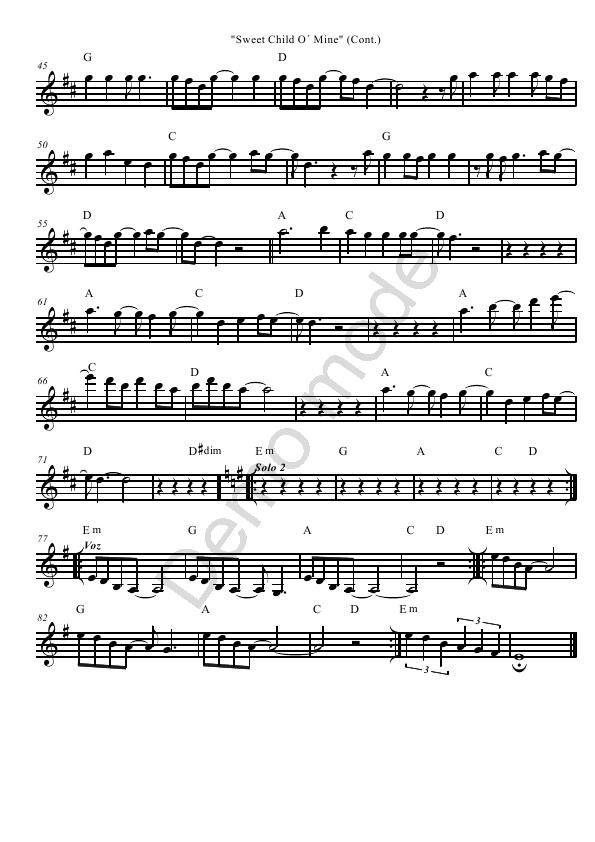 All Music Chords anime sheet music : Free Sheet Music for Violin: Rock