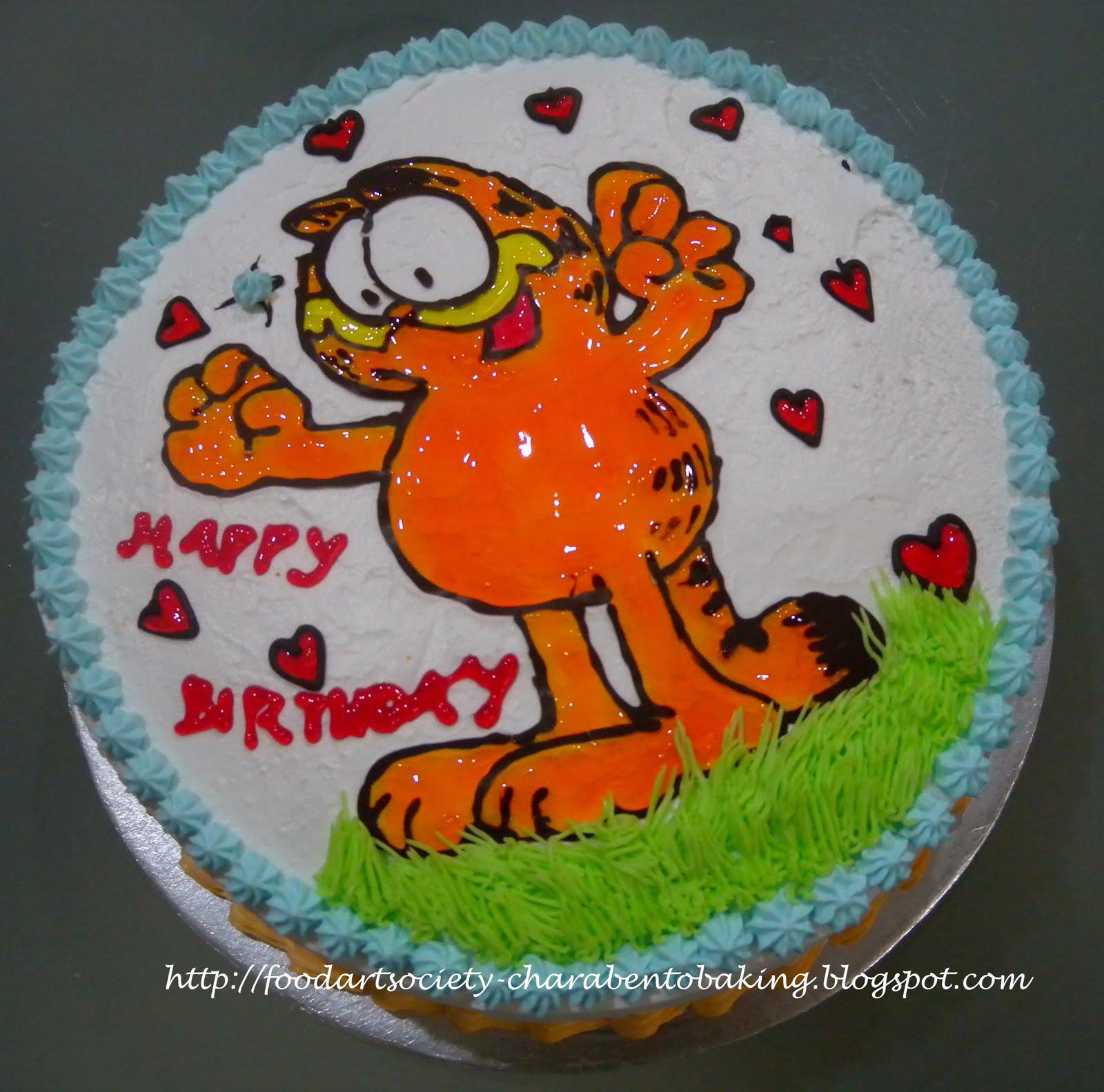 Food Art Society Charabento Amp Baking Garfield Cake 加菲猫蛋糕