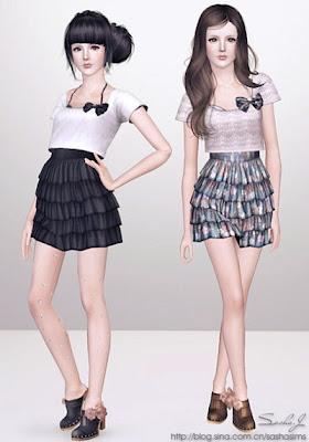 2b0727d3e Vestido Feminino para adolescente- Sasha. Postado por Tudo para The Sims 3  às 09 49