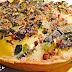 Tarte de batata, alho francês e courgette