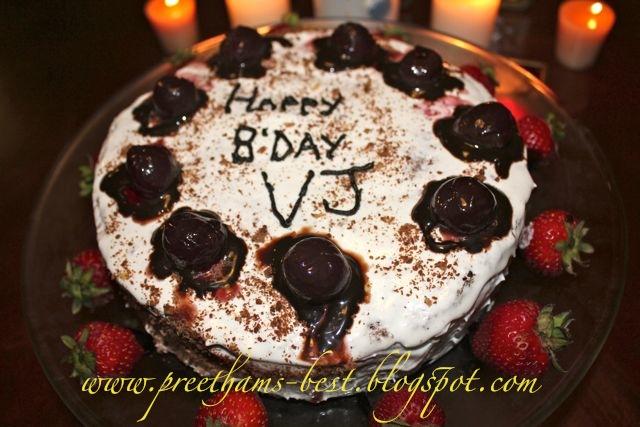 Chocolate Cake Cherries Cool Whip