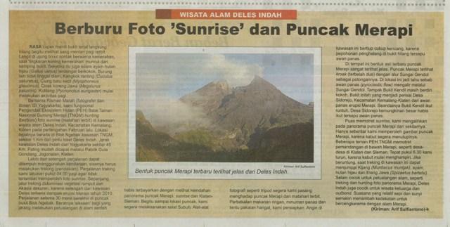 Sulfie S Blogs Obyek Wisata Deles Indah Berburu Foto Sunrise Dan Puncak Merapi