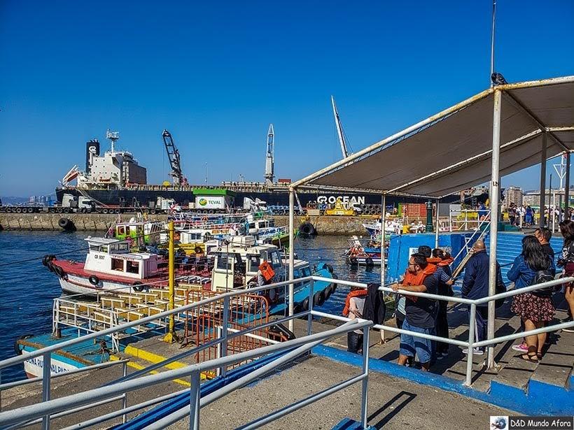 Saída dos barco no porto de Valparaíso - O que fazer em Valparaíso em algumas horas
