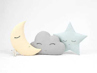 Cloud, Moon and Star Kids Pillows