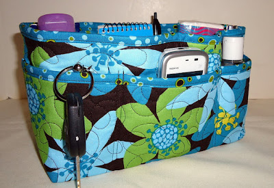 purse organizer, floral pattern