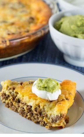 Crustless Low Carb Taco Pie
