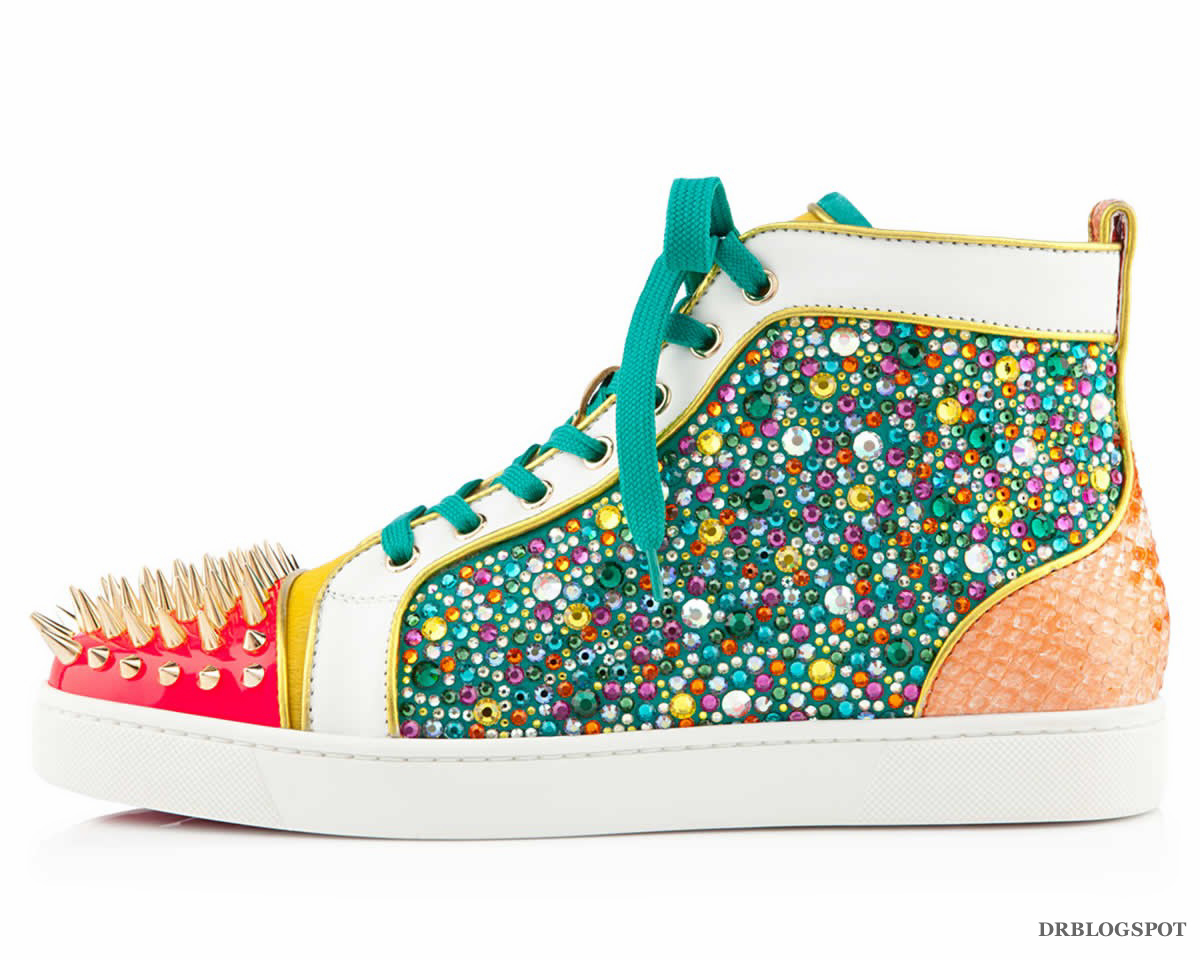 d0f3f722acf7 Source  Christian Louboutin – No Limit Flat Python Strass Spikes  Multicolour Men Shoes