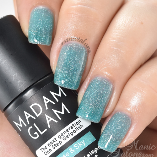 Madam Glam Gel Polish Rise and Sky Swatch