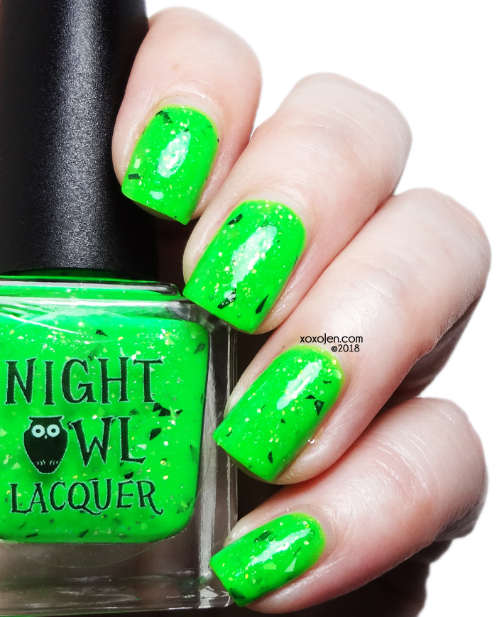 xoxoJen's swatch of Night Owl Lacquer Creepers Gonna Creep