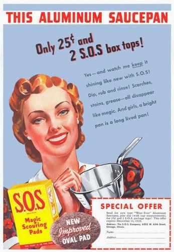 Estropajo SOS, anuncio de 1938