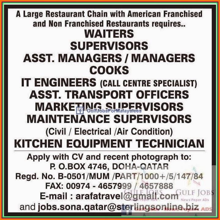 gulf jobs for malayalees america