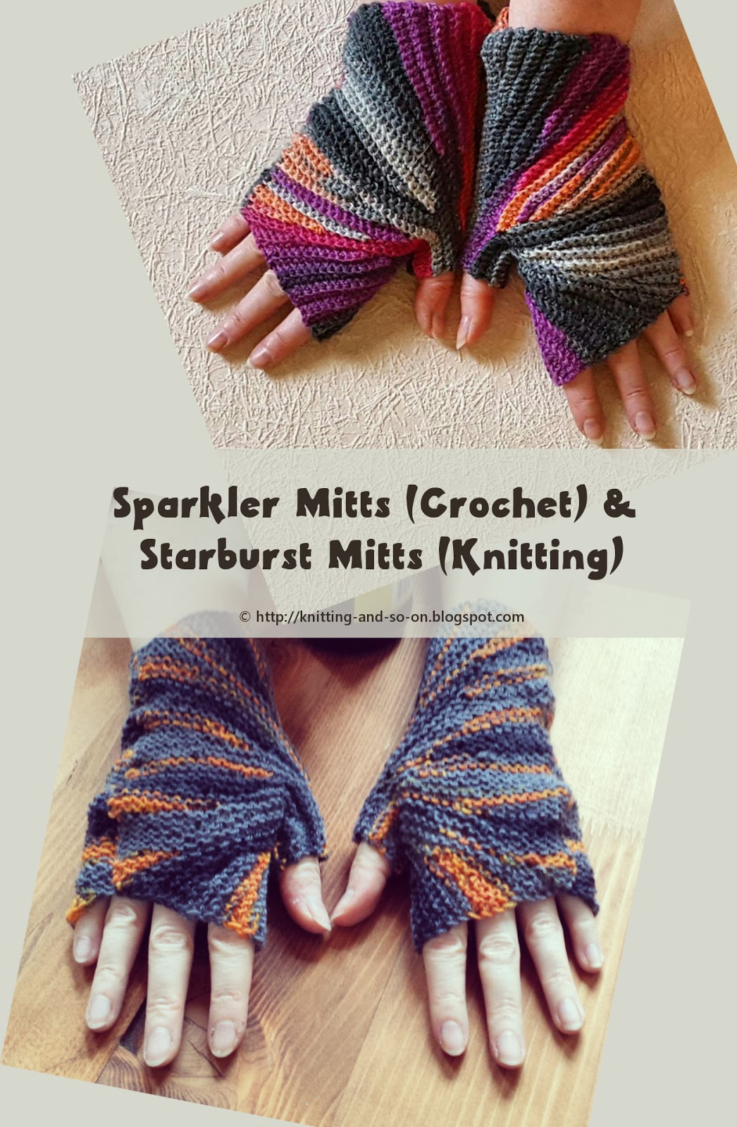 Knitting Vs Crochet Pictures : Knitting and so on patterns with a crochet