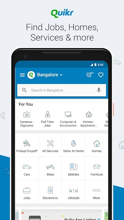 Apps for students Quikr app