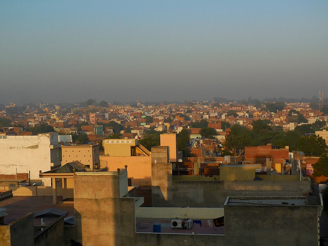 Agra skyline in the morning