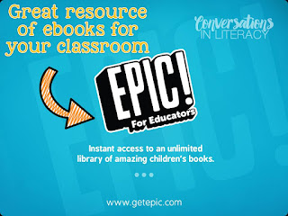 Using Epic App for ebooks at home during the summer