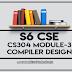 Module-3 Note for CS304 Compiler Design | S6 CSE