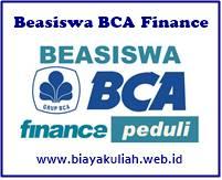Beasiswa BCA Finance untuk Mahasiswa S1/D4 seluruh Indonesia Tahun 2019
