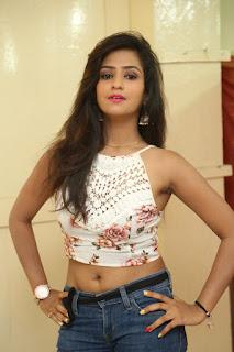 Deekshita Parvathi in a short crop top and Denim Jeans Spicy Pics Beautiful Actress Deekshita Parvathi January 2017 CelebxNext (5).JPG