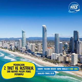 Lomba Blog 2016, Hadiah 2 Tiket PP Ke Australia